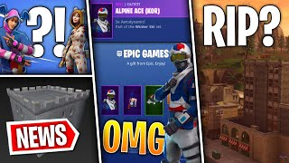 Fortnite News | Free Korean Alpine Ace Works, Tilted Destroyed, Onesie & KPOP Back, Snow News, More!