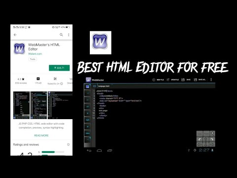BEST HTML ANDROID EDITOR FREE DOWNLOAD | WEBMASTER'S HTML EDITOR