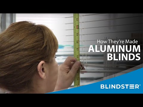 How Aluminum Blinds Are Made