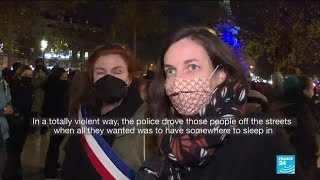 France security law: Demonstrators decry bill to curb police images
