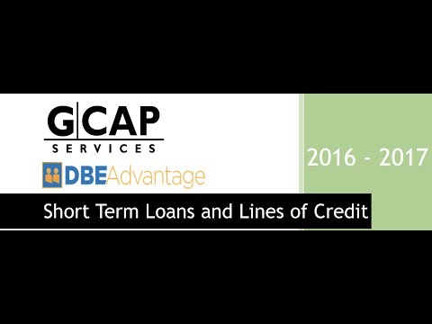 Short Term Loans and Lines of Credit