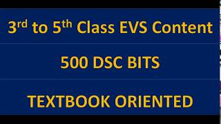 DSC most important EVS bits/ 3rd class to 5th class total content