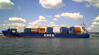 Cargo ship EMES on Varna sea port