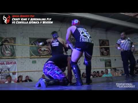 Crazy King y Adrenalina Fly vs Centella Atómica y Wasson, en Muchas Luchas
