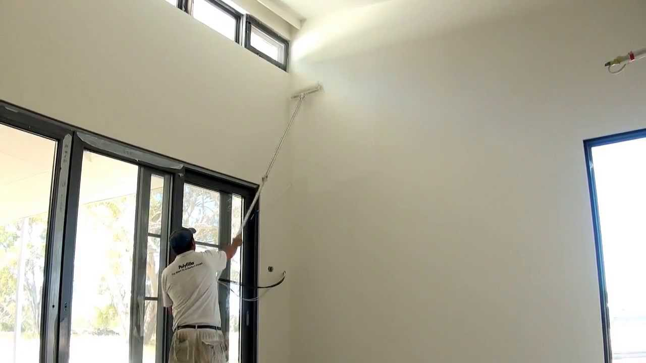 How to roll high or tall wall areas the technique used to Best paint to use on walls