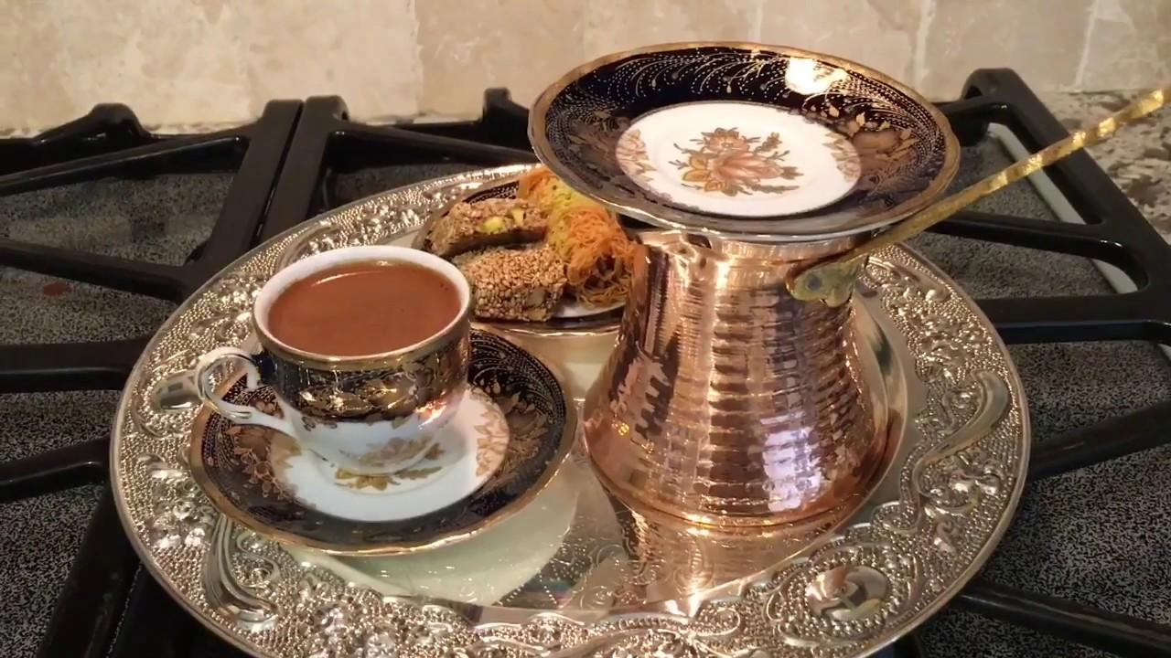 طريقة عمل القهوه التركيه How To Make Turkish Coffee Youtube