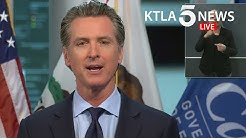 "Coronavirus: Gov. Newsom says COVID-19 numbers"" 'will go through the roof' if CA opens too soon"