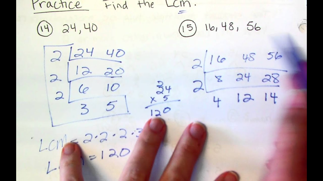 6th Grade Least Common Multiple YouTube – Least Common Multiple Worksheet 5th Grade