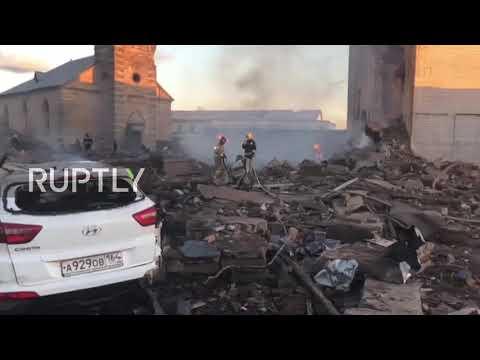 Russia: EMERCOM searches rubble after Leningrad Region firework factory blast