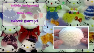 Tutorial Amigurumi Hello Kitty - Cabeza 2/2 (english Subtitles)