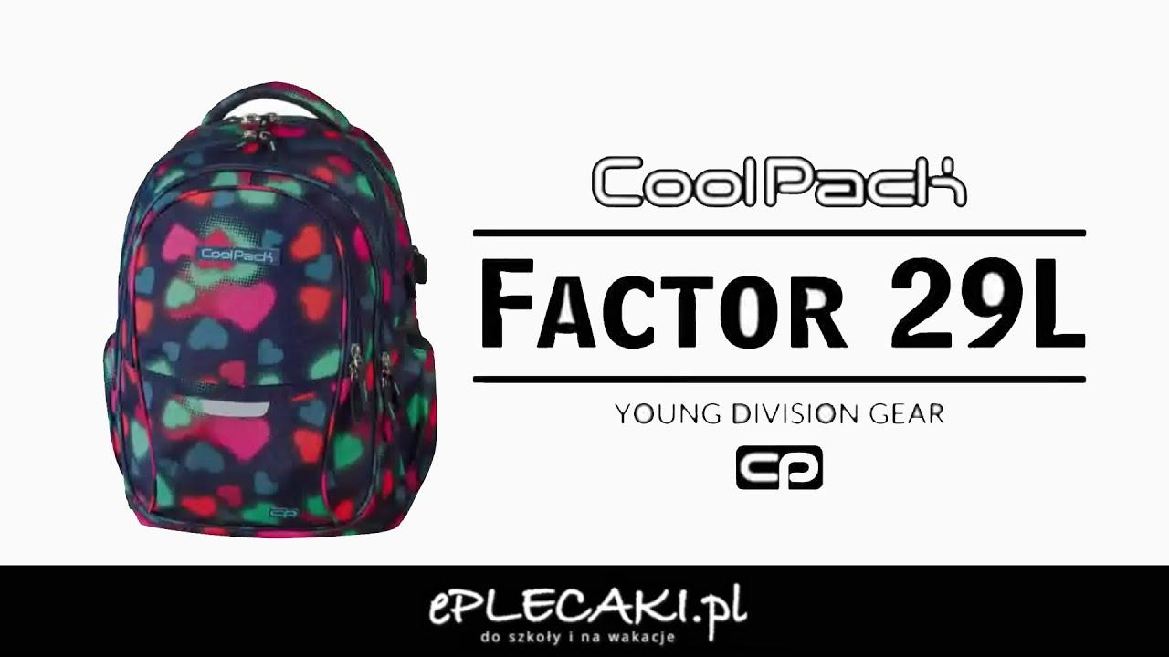b8ff9ae895c39 Plecak młodzieżowy Coolpack Factor 29L - ePlecaki.pl - YouTube