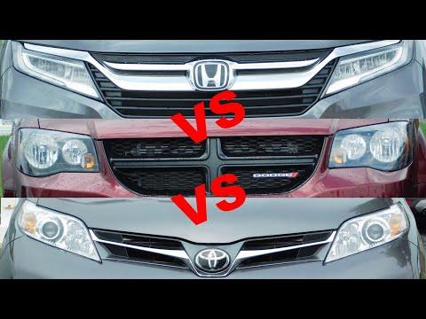 2019 Toyota Sienna vs 2019 Honda Odyssey vs 2019 Dodge Grand Caravan vs 2019 Chrysler Pacifica