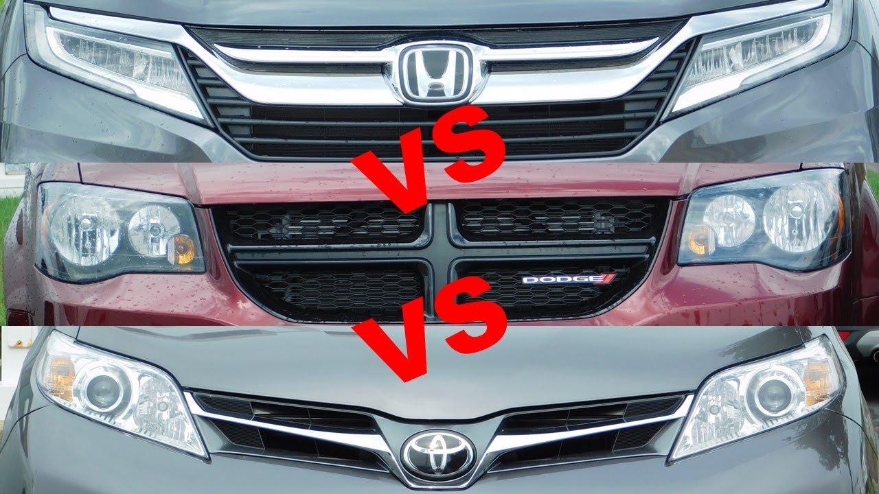Honda Odyssey Vs Toyota Sienna >> 2019 Toyota Sienna Vs 2019 Honda Odyssey Vs 2019 Dodge Grand Caravan Vs 2019 Chrysler Pacifica