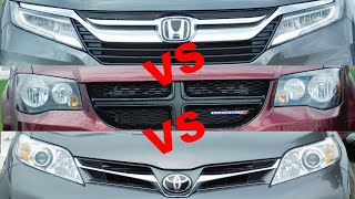 2019 Toyota Sienna vs 2019 Honda Odyssey vs 2019 Dodge Grand Caravan vs 2019 Chrysler Pacifica