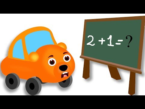 Thumbnail: Gummy Bear Cars Math Learning Scared Surprise Egg Finger Family Rhyme For Kids | Funny cartoon