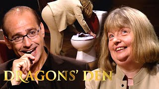 The Perfect Product For Disgusting Public Toilets   Dragons' Den