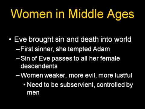 ARTH 4117 Medieval Art 1: Ideas about women in the Middle Ages