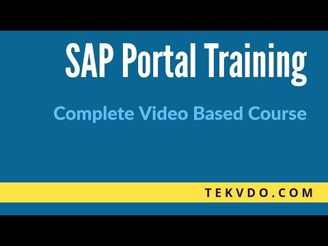 SAP Enterprise Portal(EP) Training - Complete SAP Enterprise Portal Video Based Course