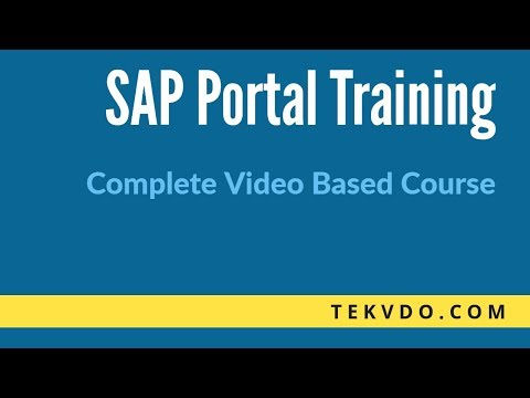 SAP Enterprise Portal(EP) Training - Complete SAP Enterprise Portal Video Based Course