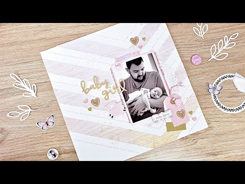 Baby Girl | 12x12 Scrapbook Layout | The Unscrapped Bundle Of Joy