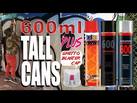 Extra Large Graffiti Cans For Quick Action - Feat Molotow