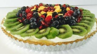 Fresh Passion Fruit Tart With Fresh Fruits