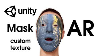 AR Masks (AR Face Filters) — Unity Asset — AR Mask: Custom Texture (Video Pattern: Water/River)