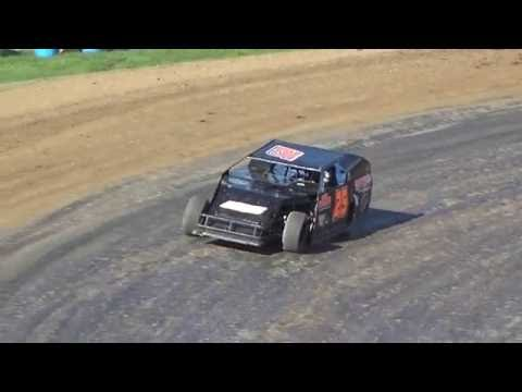 Jeff Kohn farewell laps at Great Lakes Nationals, Crystal Motor Speedway on 09-18-16