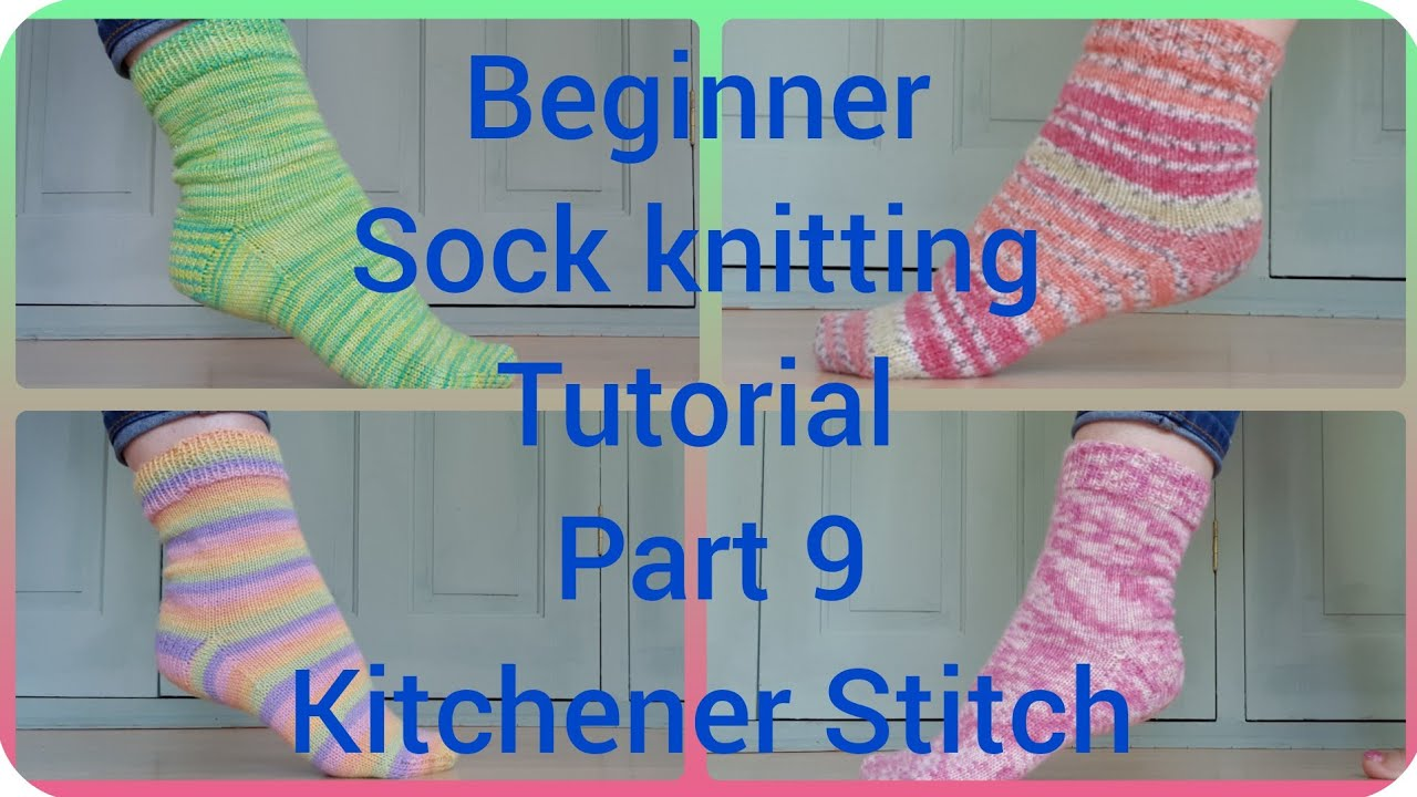 Sock knitting tutorial Kitchener Stitch toe Part 8 - YouTube