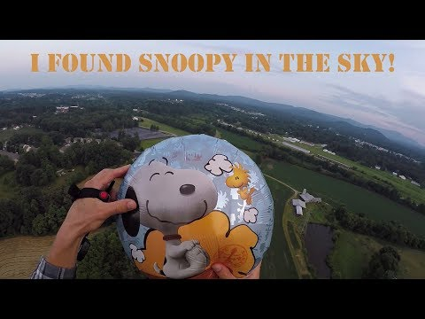 Snoopy Balloons Caught Escaping Children's Birthday Party!!