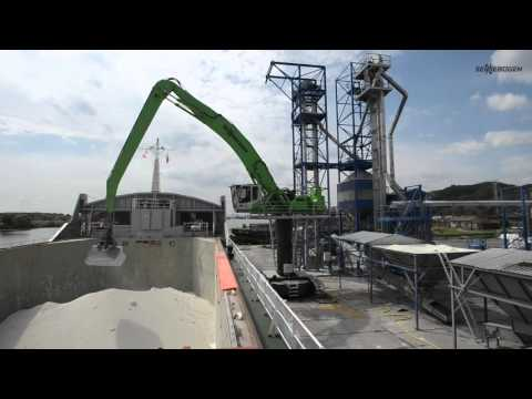 SENNEBOGEN 835 special electric excavator - Port handling with clam shell grab in Poland