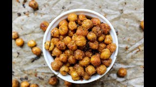 Roasted Chickpeas - snack recipe - healthy snack - how to cook chickpeas - recipes - vegan recipes