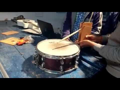 Drumming Robot: Models and Robotics Section, IIT Roorkee, Mechanism testing