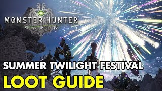 Monster Hunter: World | Summer Twilight Festival GUIDE to ALL Events and LOOT