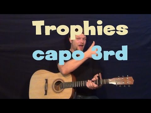 Trophies (Young Money ft. Drake) Easy Guitar Lesson How to Play Tutorial