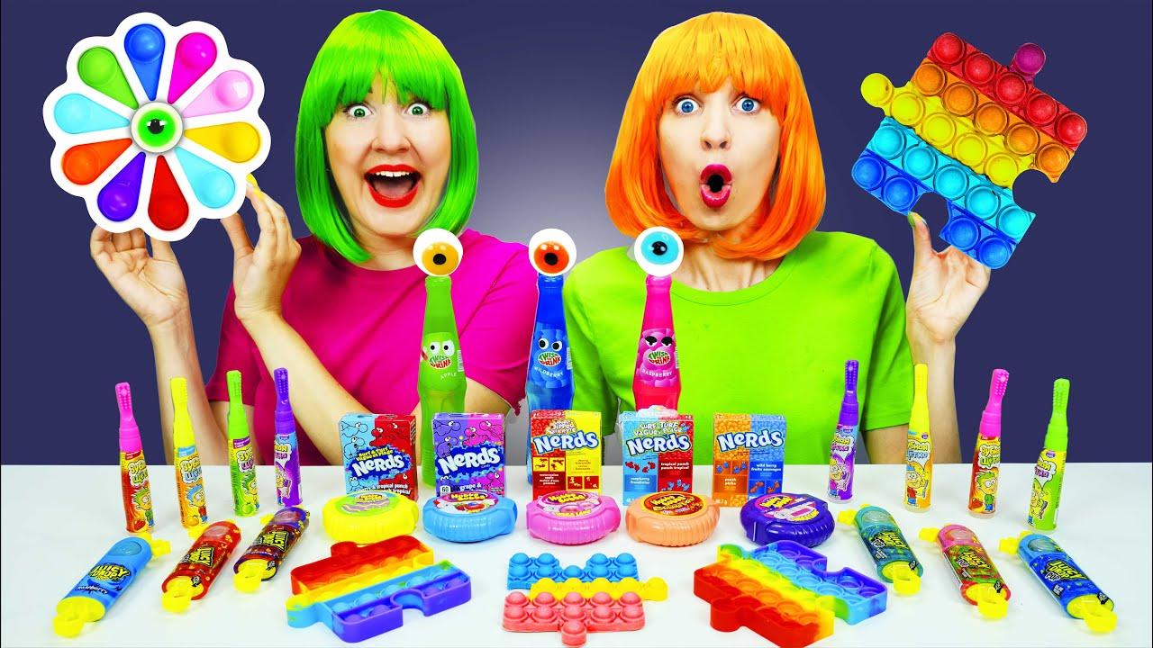 Download Color Food Challenge Push Pop it Mukbang 먹방 챌린지 by Pico Pocky
