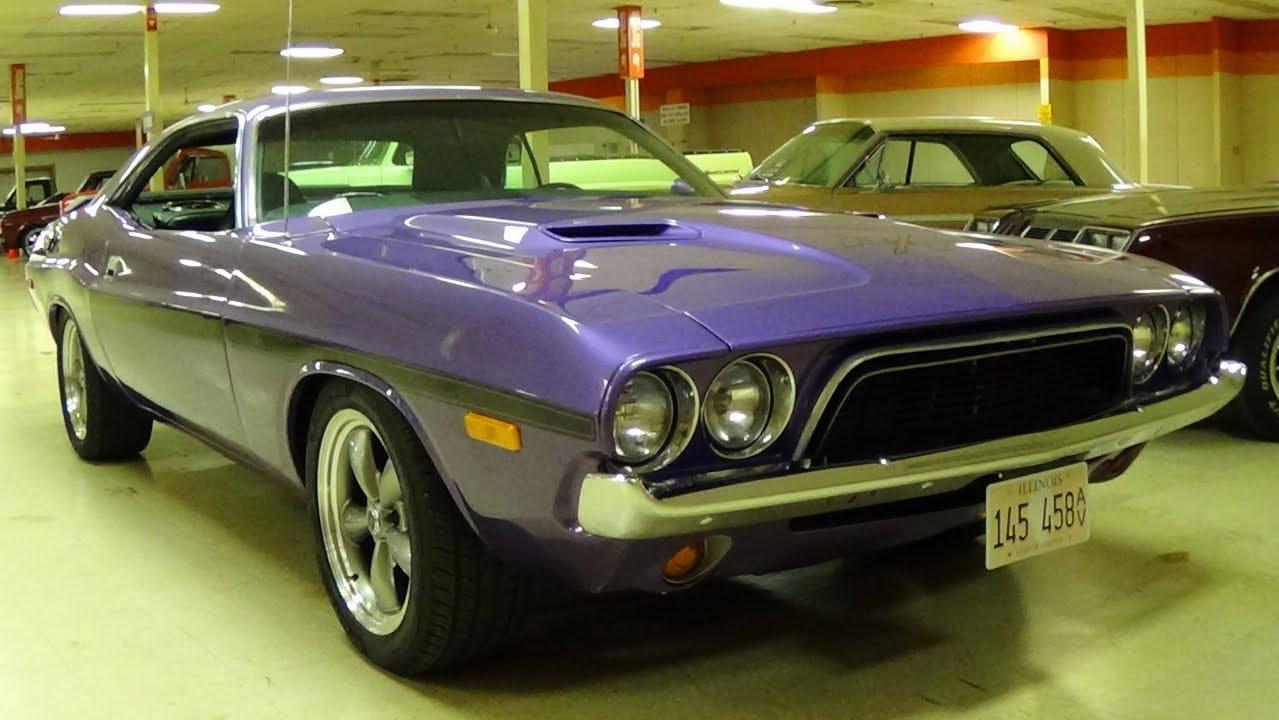 1973 Dodge Challenger 340 V8 Plum Crazy Mopar Muscle Car