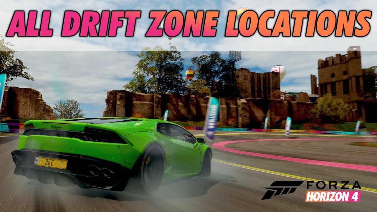 Forza Horizon 4 All Drift Zone Locations 3 Stars