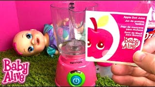 Baby Alive Sips N Cuddles Doll Arial Drinks Apple Juice from Old Super Refill Pack