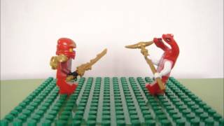 Lego Ninjago Stop Motion Fight Test- Kai vs Fangdam