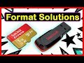 Windows Was Unable To Complete The Format USB Flash Drive/SD Card   How To Fix (Quick Solution)
