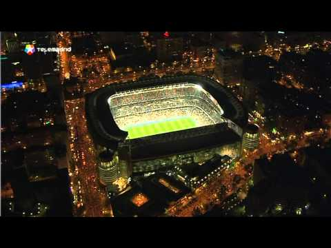 Santiago Bernabeu Aerial Night Youtube