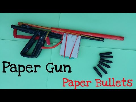 How to make a Paper Gun that shoots with 7 Paper bullets | Creative paper