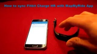 How To Sync Fitbit Charge HR with MapMyRide App