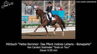 Autogramm Heike Kemmer Reiten Dressur Olympiasiegerin mit Bonaparte TOP blau#