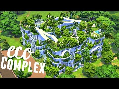 Sims 4 | House Build: Eco Complex - Super Collaboration! - Youtube