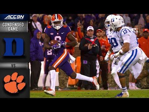 Duke vs. Clemson Condensed Game   2018 ACC Football