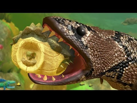 TURTLE IN ITS SHELL vs GIANT SNAKE FISH! - Feed and Grow Fish - Part 62   Pungence