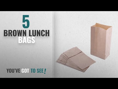 Best Brown Lunch Bags [2018]: Small Paper Snack Bags, Durable Kraft Paper Bags, 2 Pound Capacity,