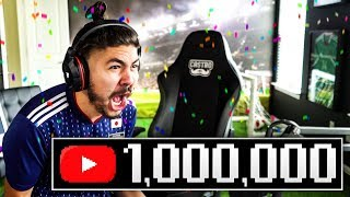 WE HIT 1 MILLION SUBSCRIBERS!! MY REACTION!!!!